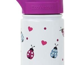 Ecovessel Bouteille en inox avec paille rétractable Scout Kids de EcoVessel