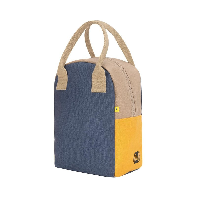 Fluf Fluf - Organic Cotton Zipper Lunch Bag - Solid