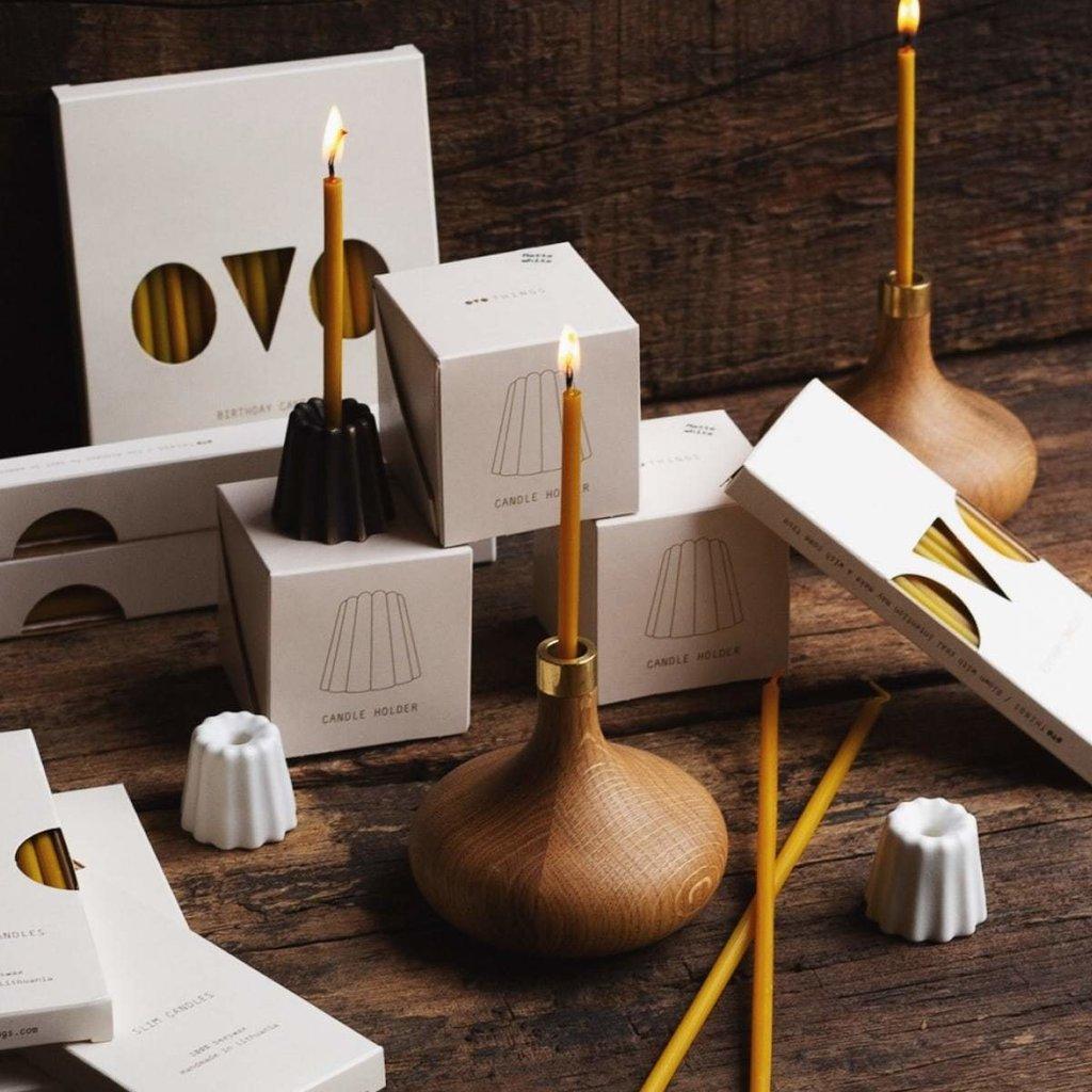 OVO Things OVO Things - Canele Bronze Candle Holder
