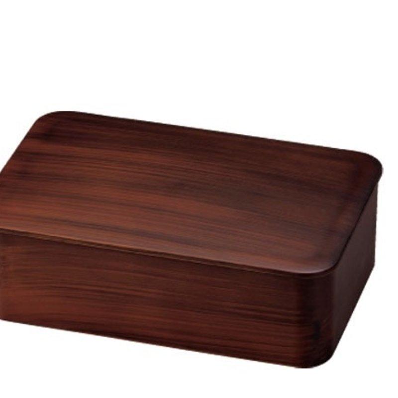 Hakoya Hakoya - Woodgrain Bento Box L & Cutlery Set