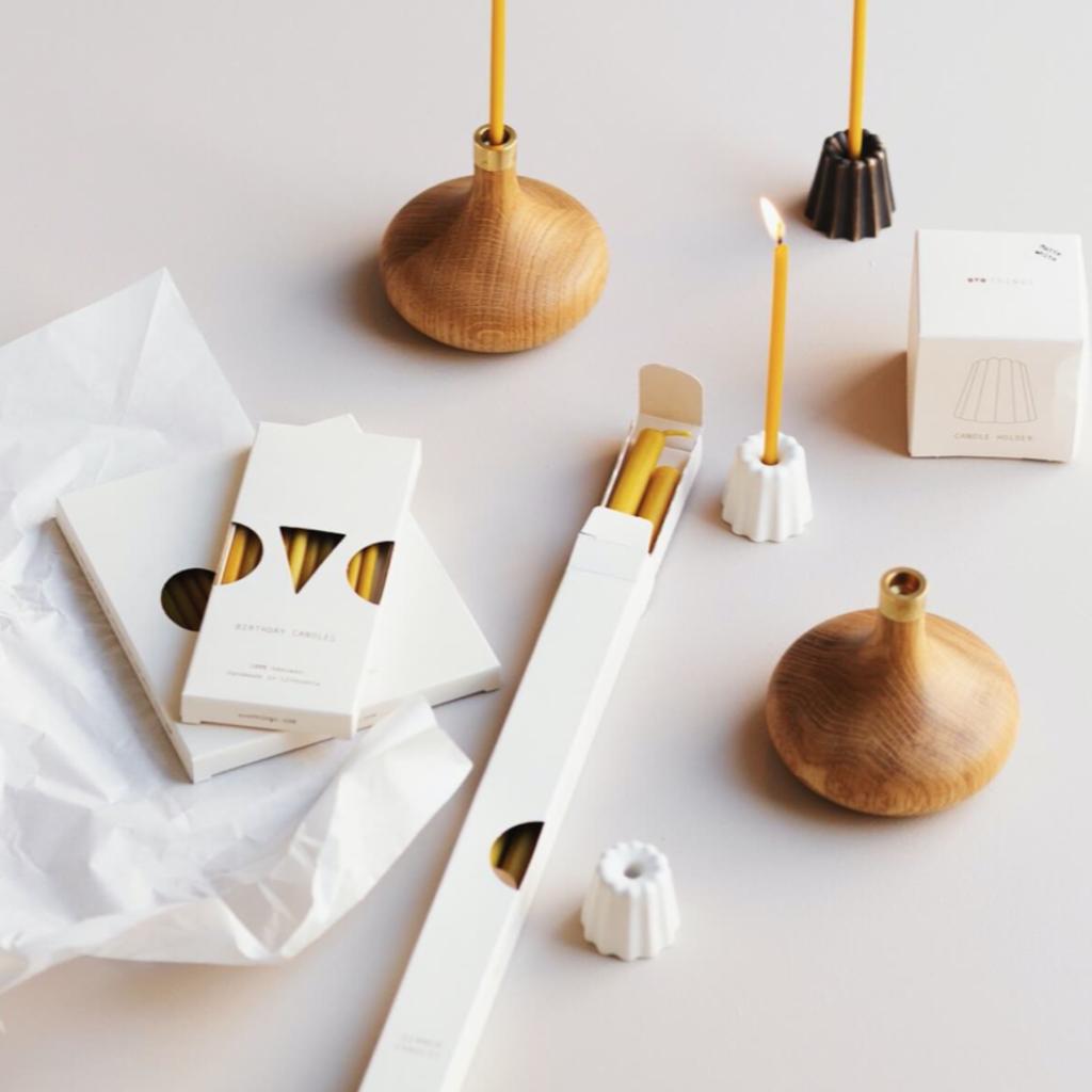 OVO Things OVO Things - Bougies de table naturelles et non parfumées faites à la main