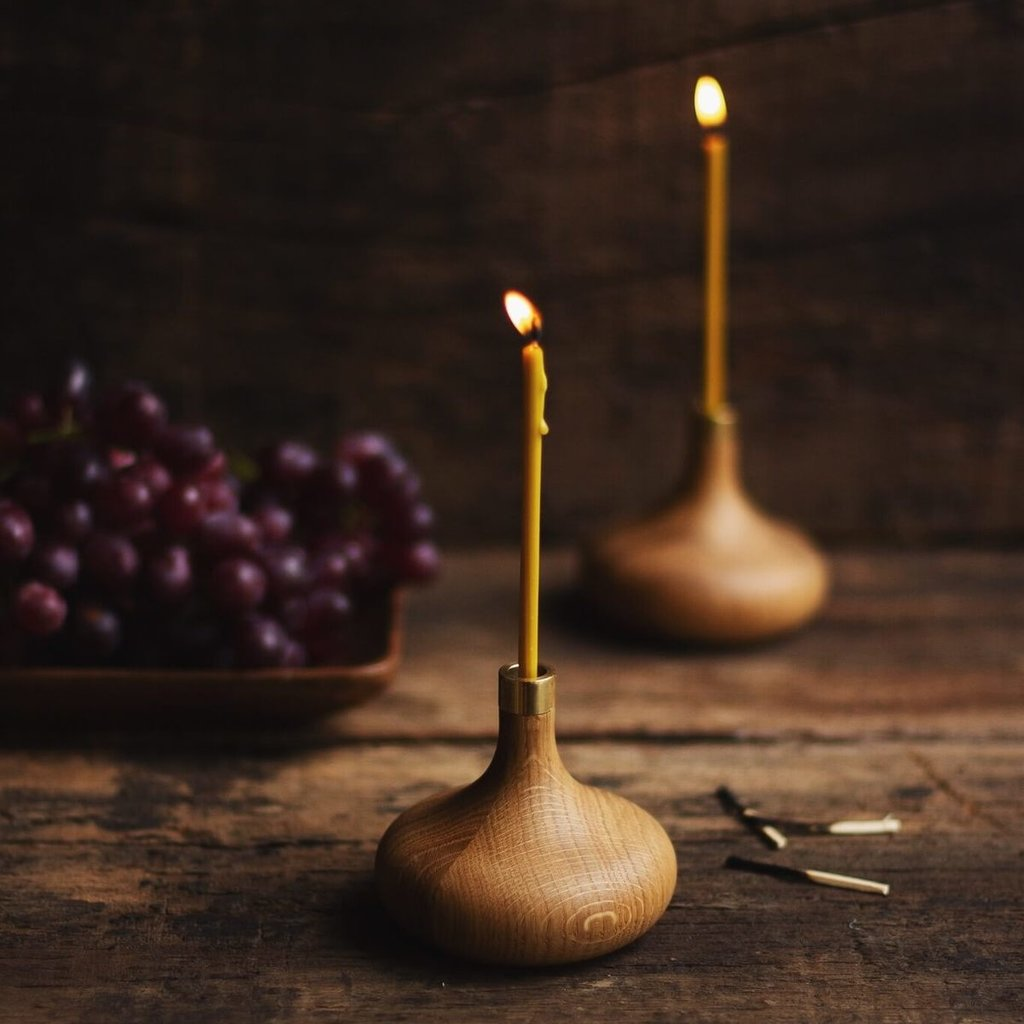 OVO Things OVO Things - Oak Candle Holder