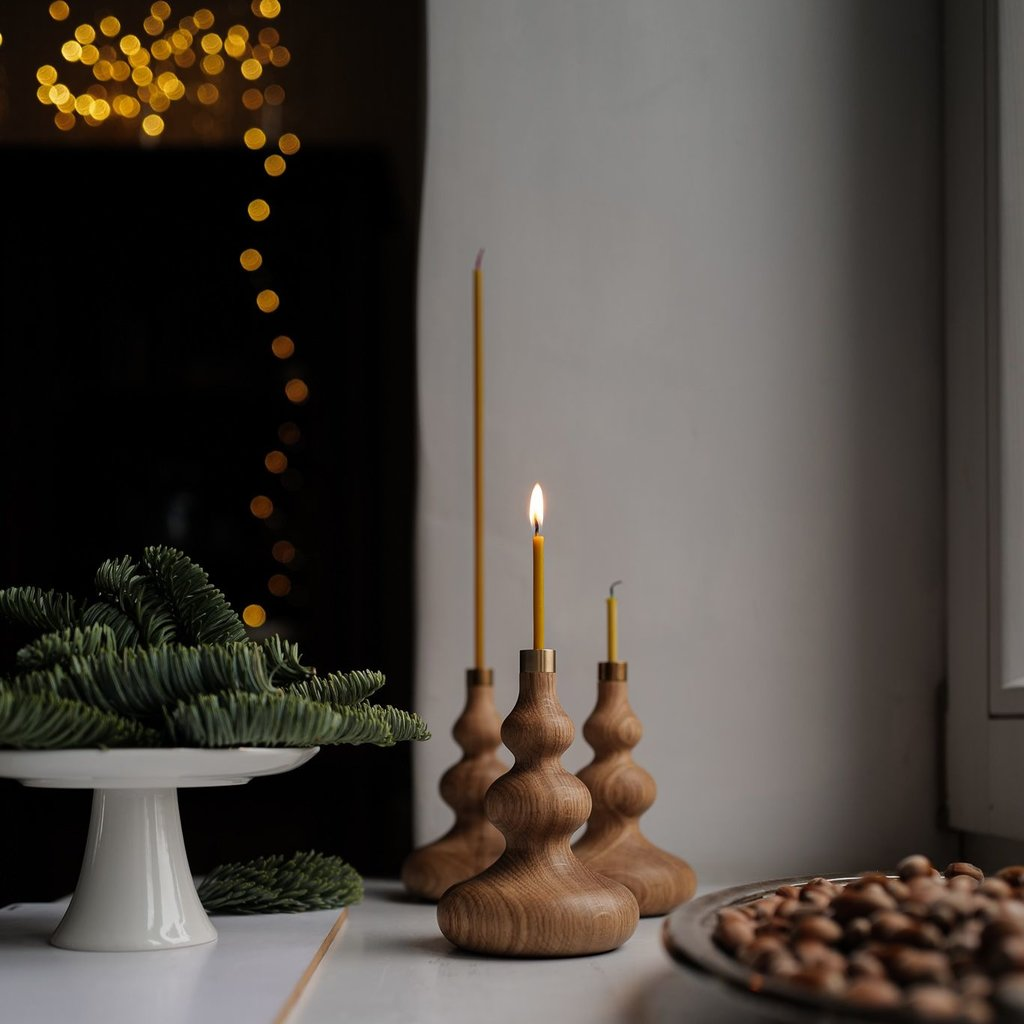 OVO Things OVO Things - TREE Oak Candle Holder