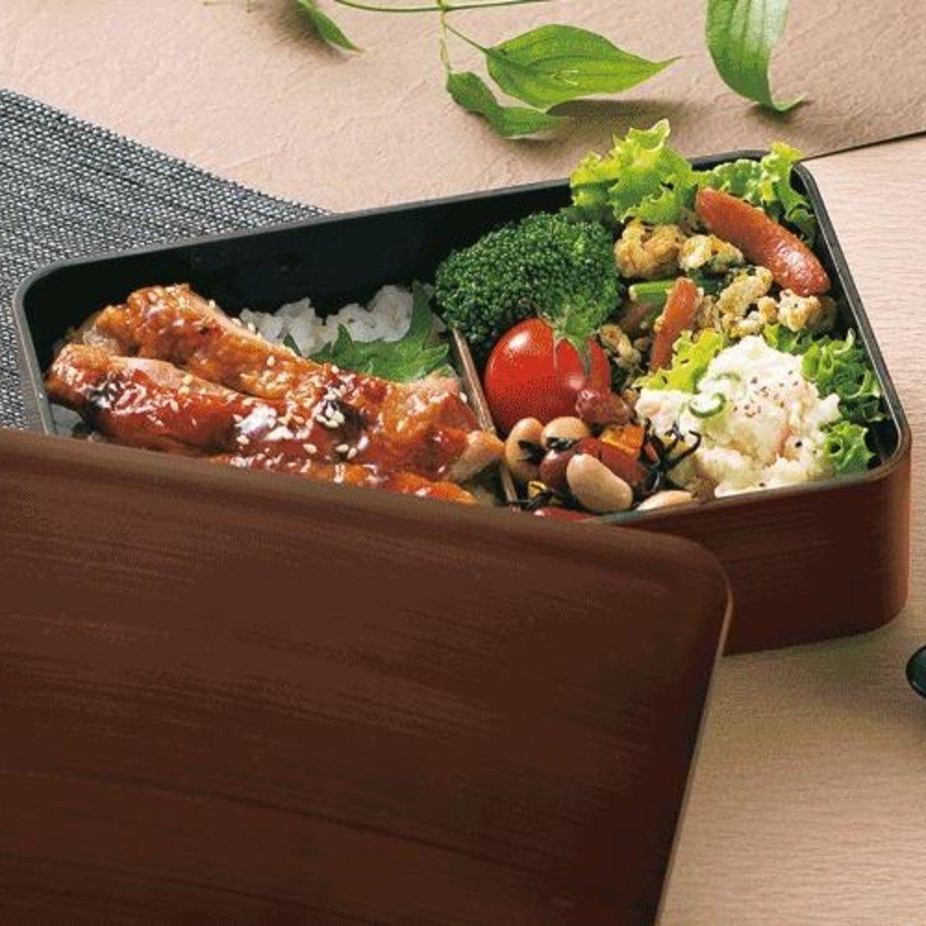 Hakoya Hakoya - Boîte à Bento effet Bois  - 600ml