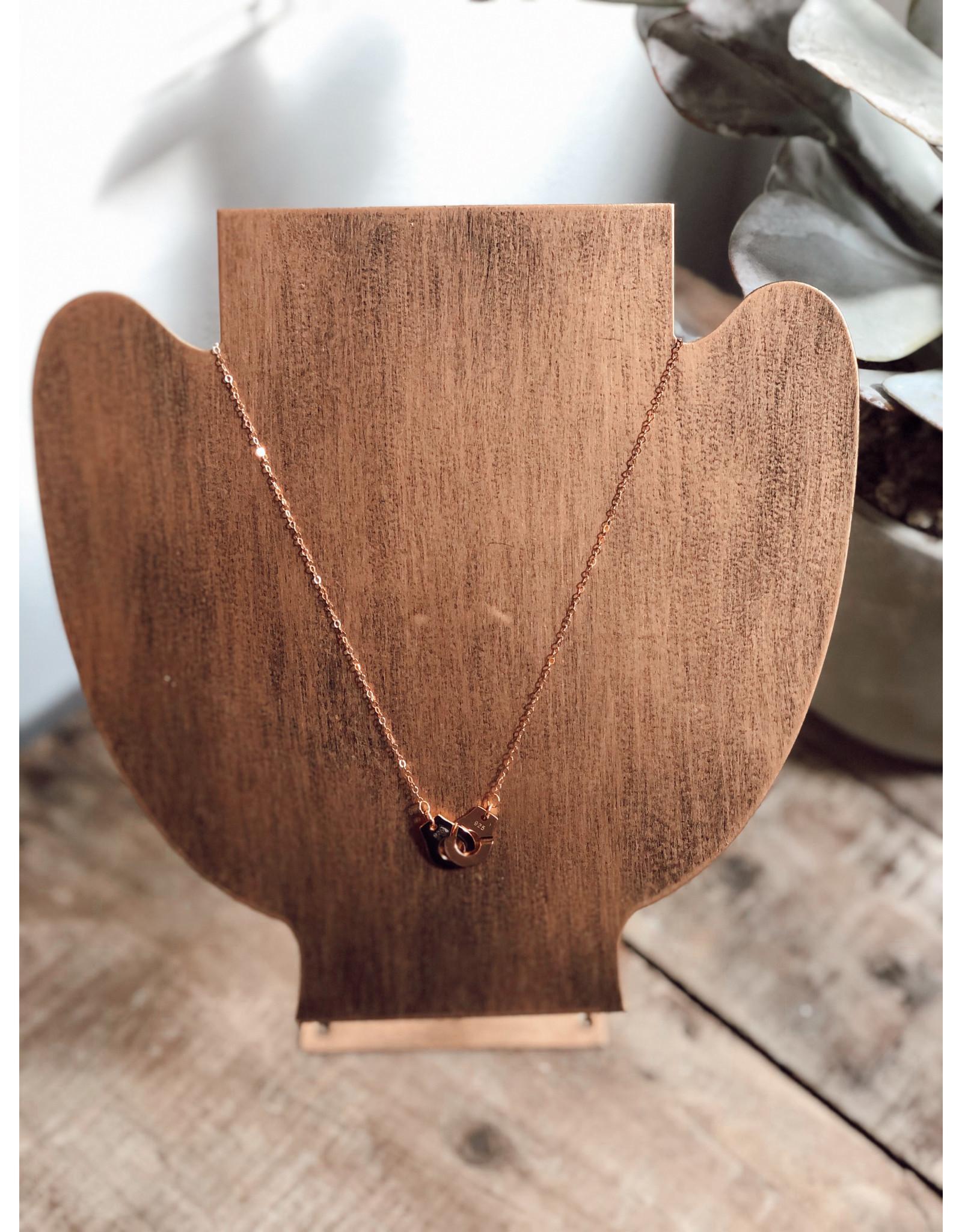 Helen Wang 14k Rose Gold Lock Necklace