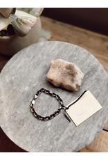 Helen Wang Diamond Cut Gunmetal Sterling Silver 14k Gold Filled Bracelet