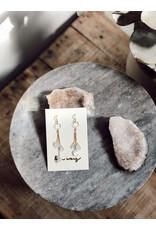 Helen Wang HW Aquamarine, Faceted Peridot, Emerald Earrings