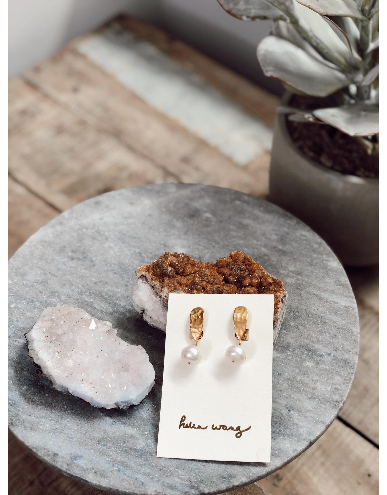 Helen Wang HW Baroque Clip-On Pearl Earrings