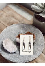Helen Wang HW Sterling Silver Swarovski Baguettes