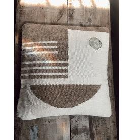 Creative Co-Op Cotton Geometric Pillow