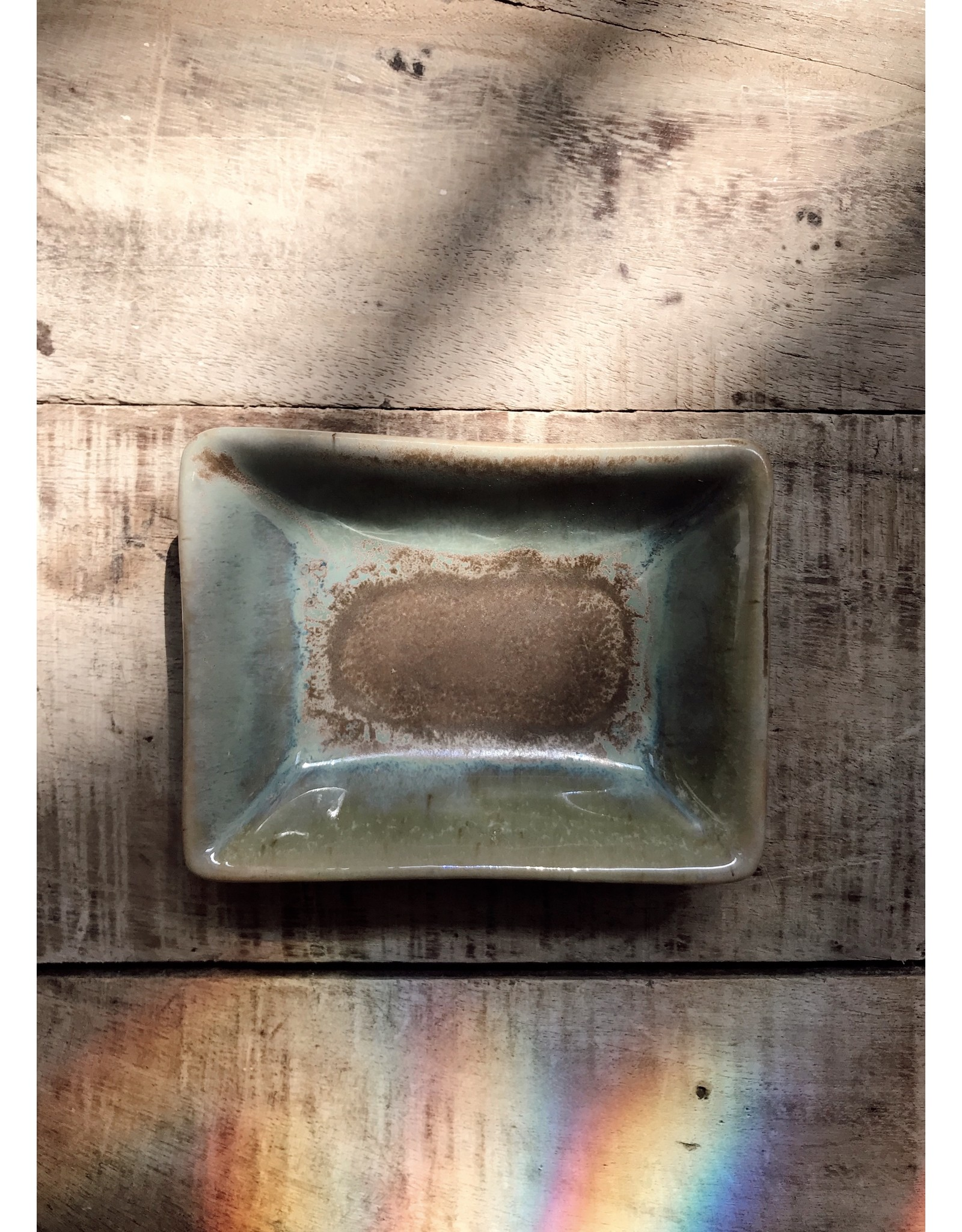 Creative Co-Op Glazed Stoneware Dish