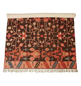 Creative Co-Op 4' x 6' Woven Cotton Printed Rug, Multi Color