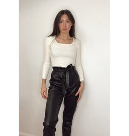 Lucy Paris Alaina Faux Leather Pants