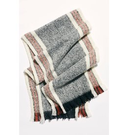 Free People Brushed Racer Stripe Blanket Scarf