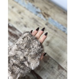 Pandemonium Reversible Faux Fur Fingerless Glove