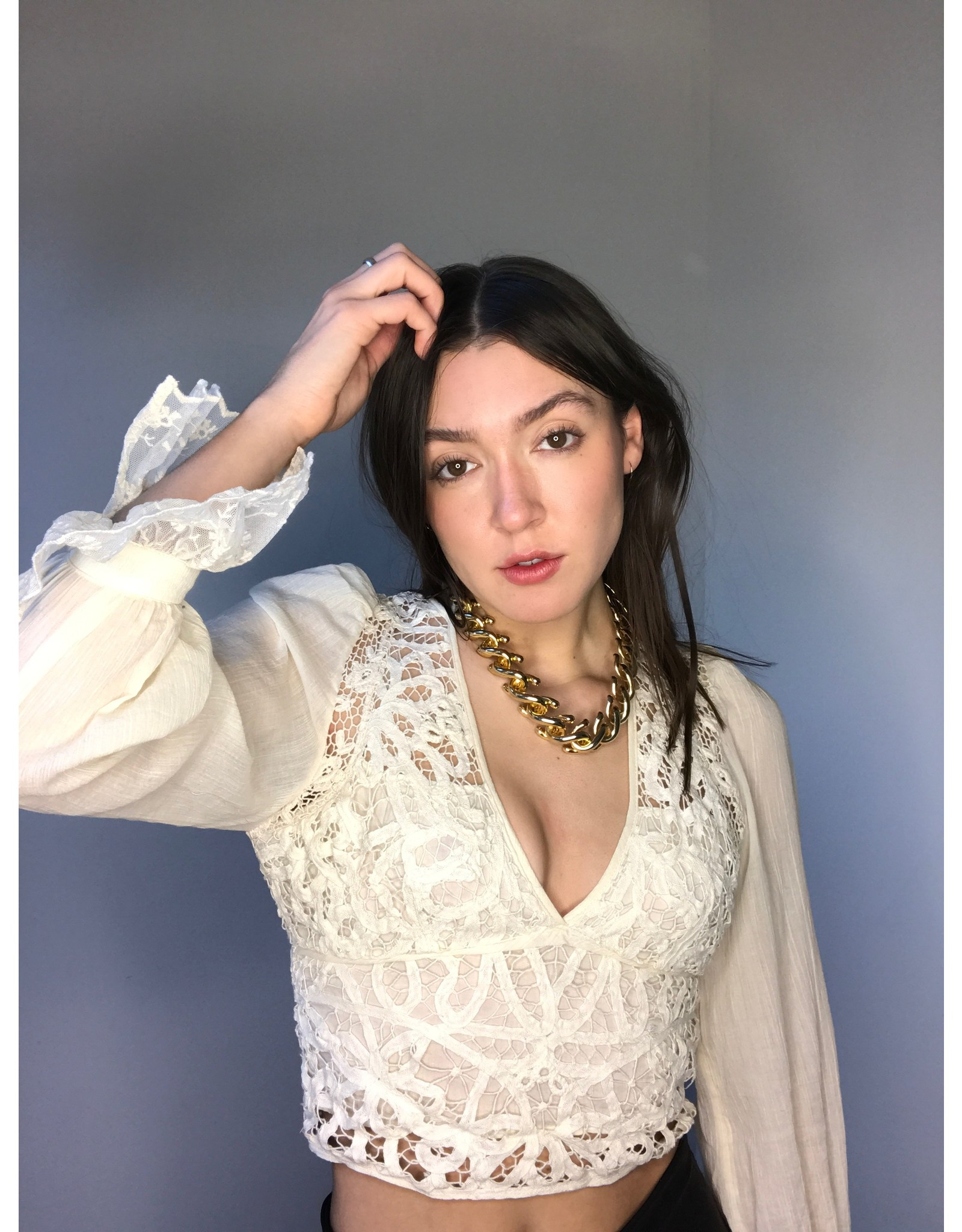 Free People Sorelle Lace Top