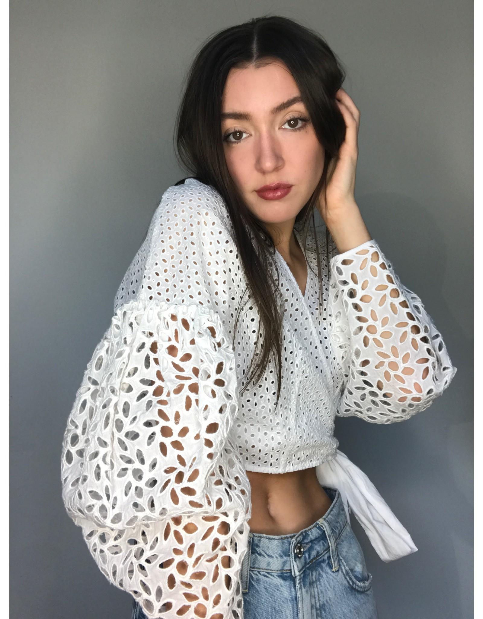 Aratta Quinn Eyelet Top