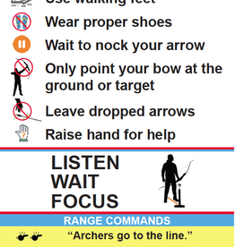 Dragonfly Archery Early Reader Archery Range Rules Poster