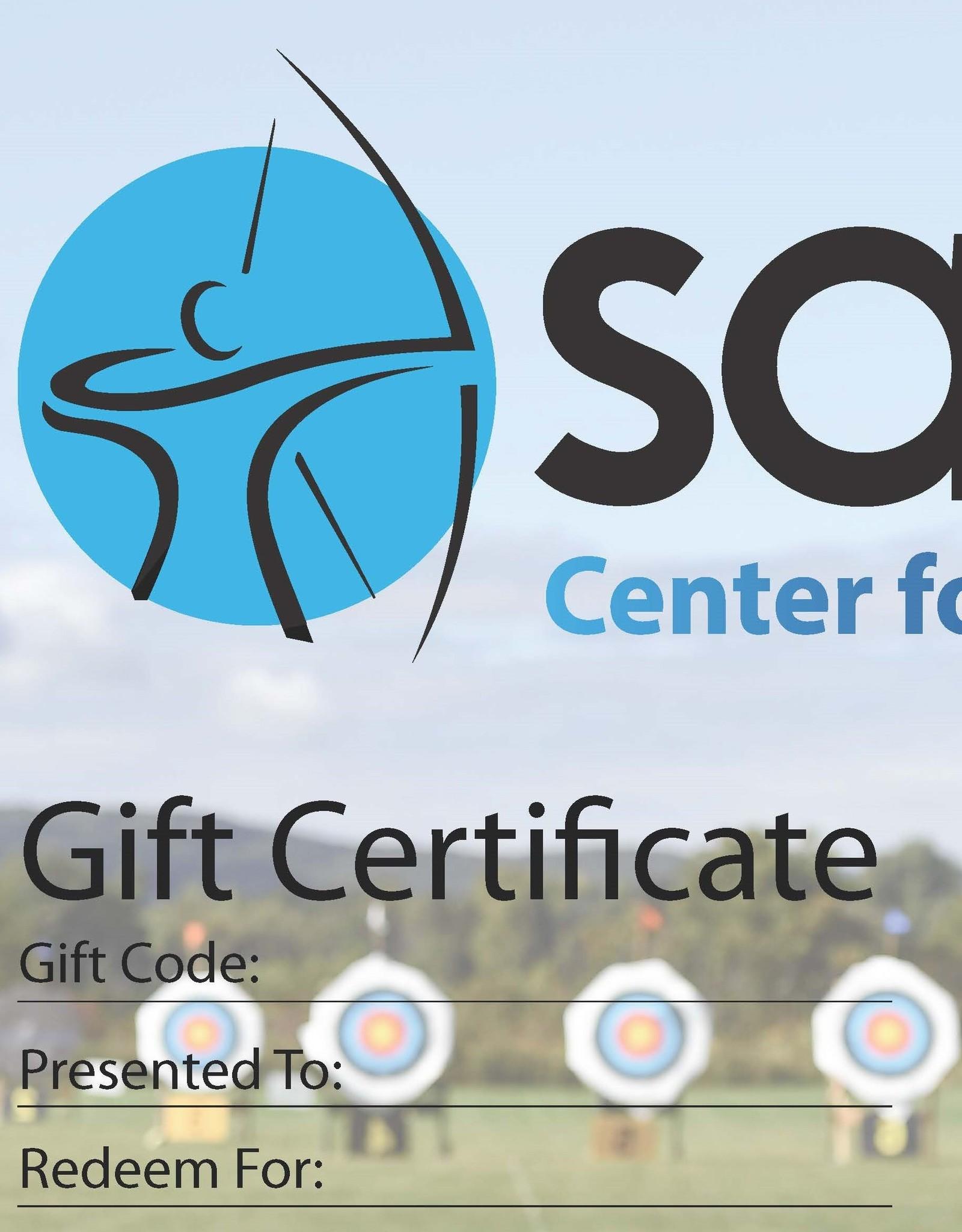 Archery Gift Certificate