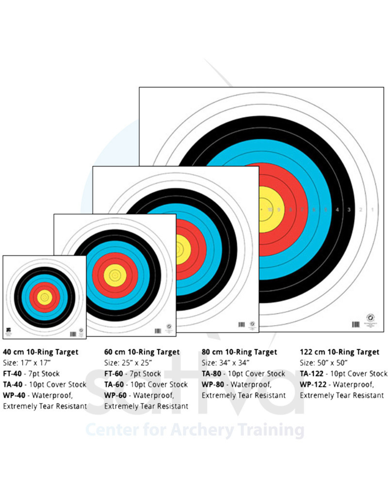 Maple Leaf WP FITA Official Field 80cm Target Face