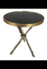 Brass Faux Tripod Side Table
