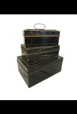 Antique Black Box -Lg