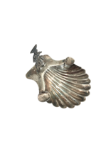 Vintage Sterling Silver Clam Ashtray