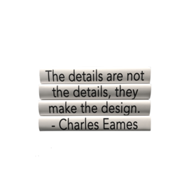 Charles Eames Book Quote-  Set of 4
