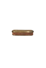 Antique Oval Brass Box- Joseph Thorley Engraved