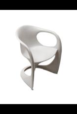 1960's Vintage Joe Colombo Armchair- White Acrylic