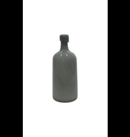 Grey Hand Blown Vase