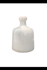 Wide Milk Hand Blown Vase