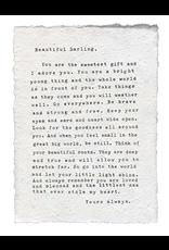 Handmade Paper Print- Letter to Sophie
