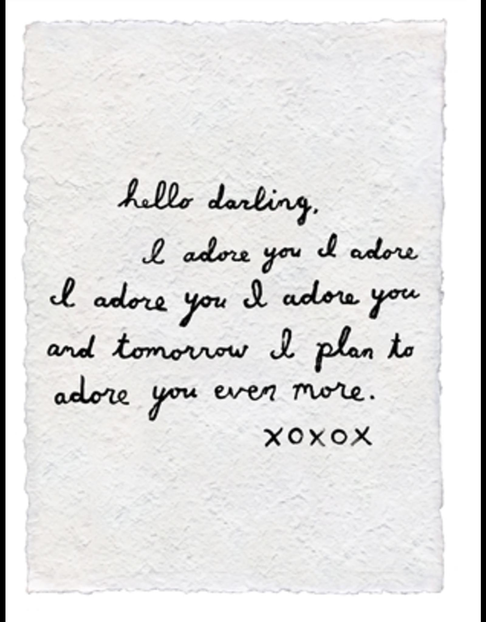 Handmade Paper Print- Letter #2 (I Adore You)