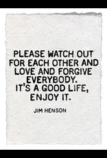 Handmade Paper Print- Jim Henson