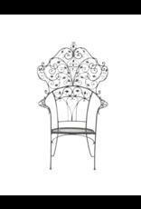 1920's Vintage Wrought Iron Garden Throne Chair