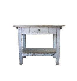 French Blue Farm Table