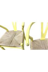 Set of 4 Hans Wegner Wishbone Chairs Painted Yellow