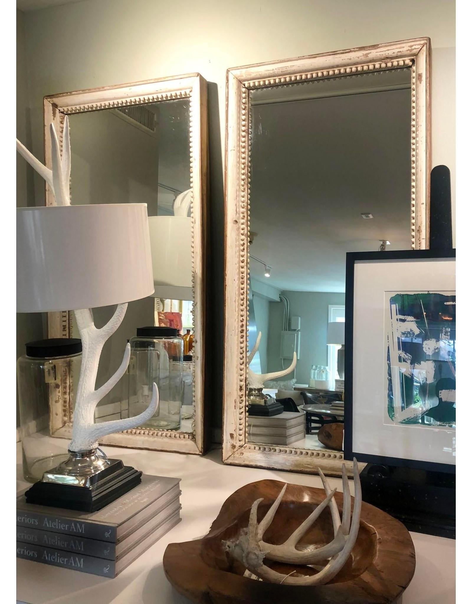 Pair of Vintage Off-White Mirrors