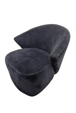 Michael Wolk Swivel Lounge Chairs for Directional, a Pair