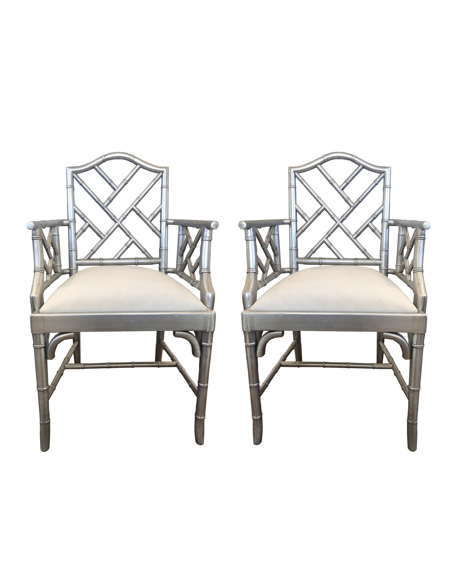 Vintage Chippendale Armchairs, a Pair