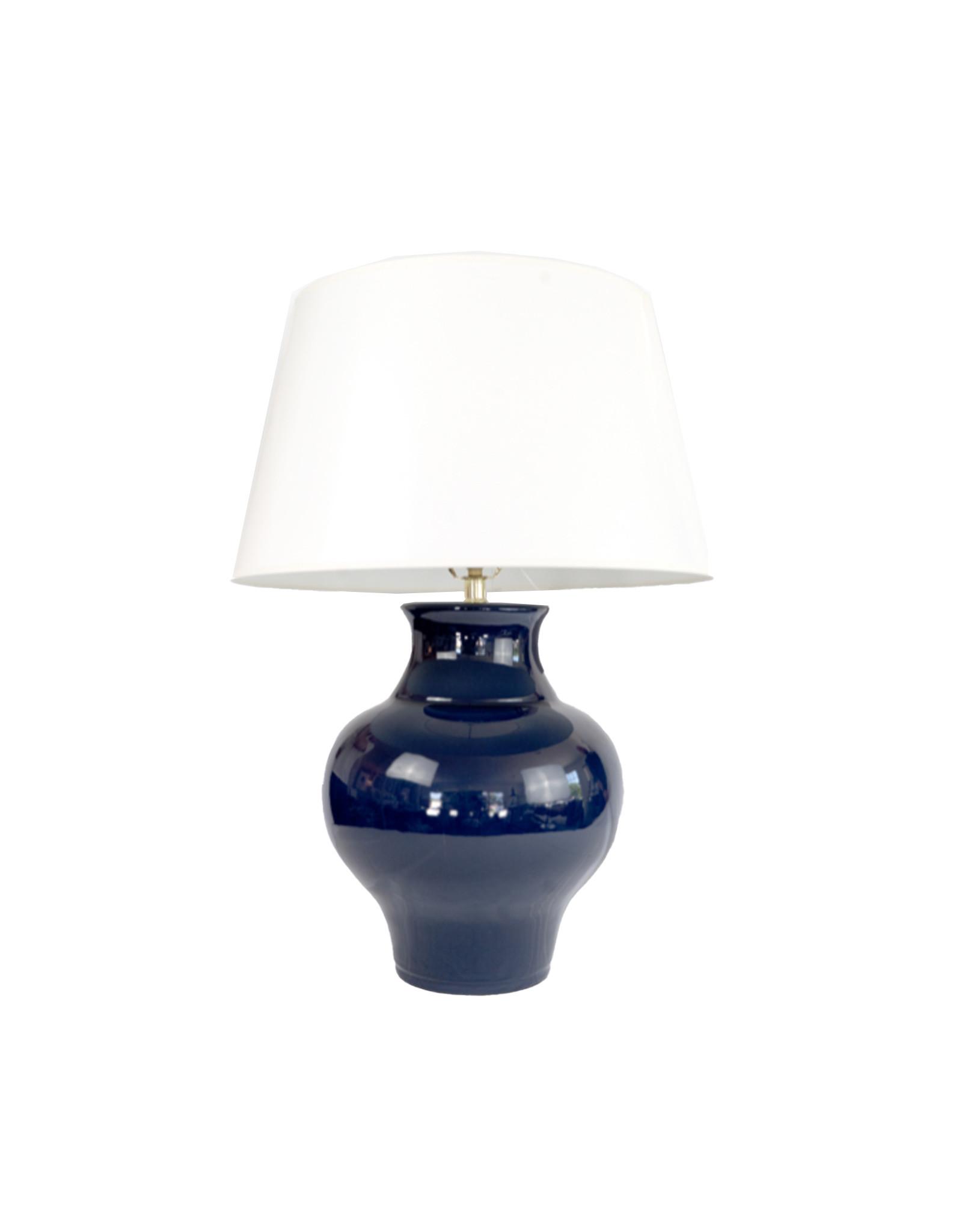 Navy Cookie Jar Lamp