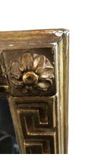 Borghese Italian Carved Wood and Gilt Greek Key Mirror
