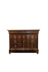 French Louis Philippe Style Commode with White Marble Top