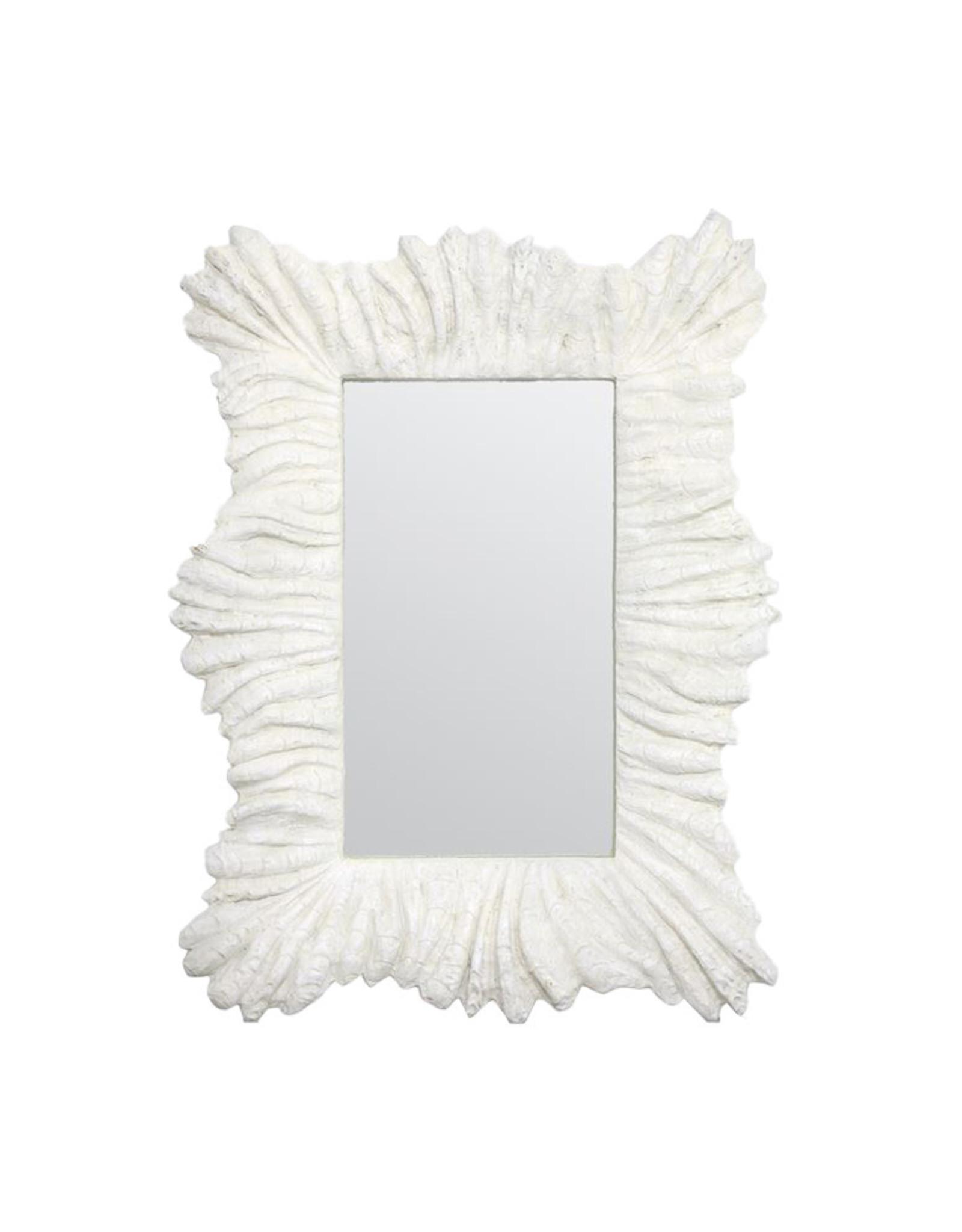 Baroque, White Coral Mirror