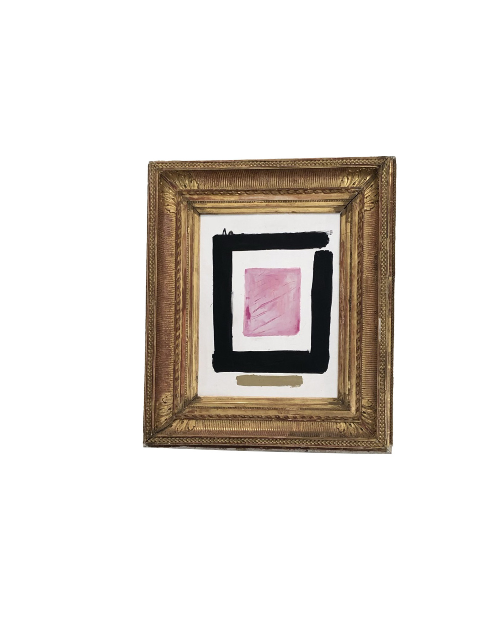 Modern Oil Painting in 18th Century Gesso Gilt Frame