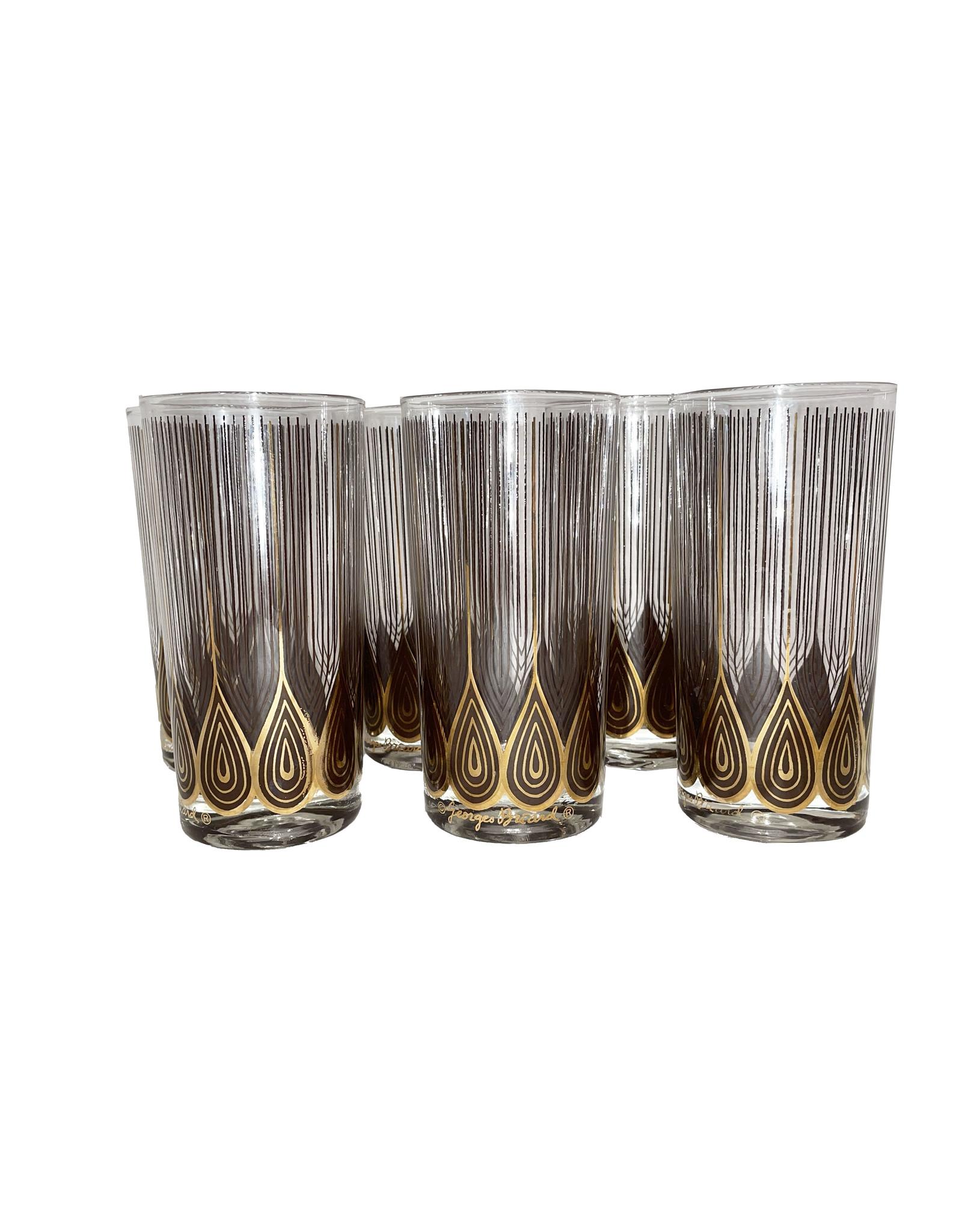 Vintage George Briard Highball Glasses- Set of 12