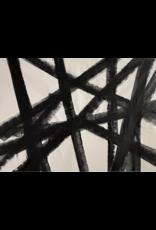 Black and White Large Original Painting Kline Style #2