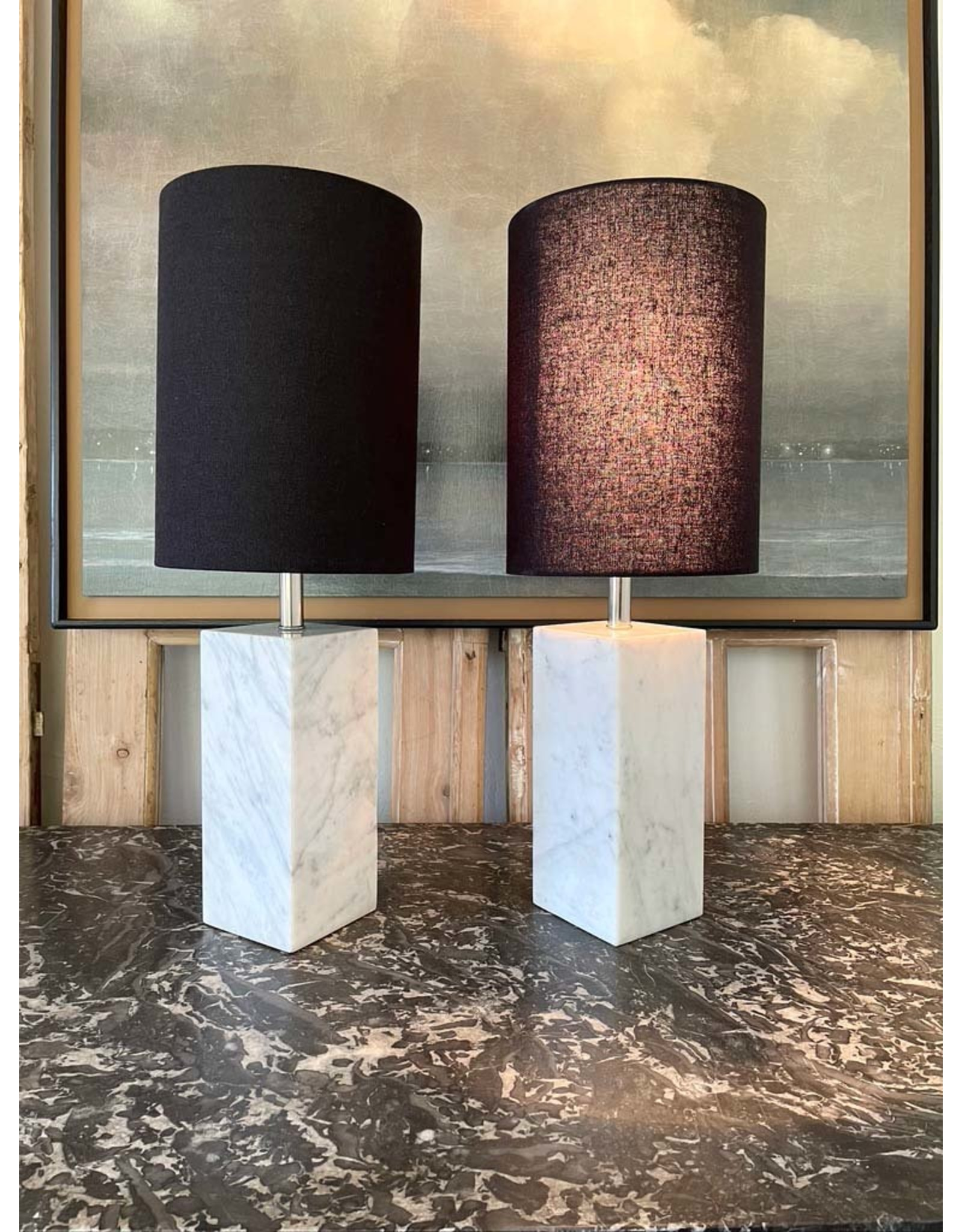 Marble Lamp set of 2