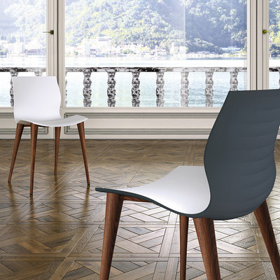 BELLINI Dining chair - EVALYN WOOD WHITE - BL